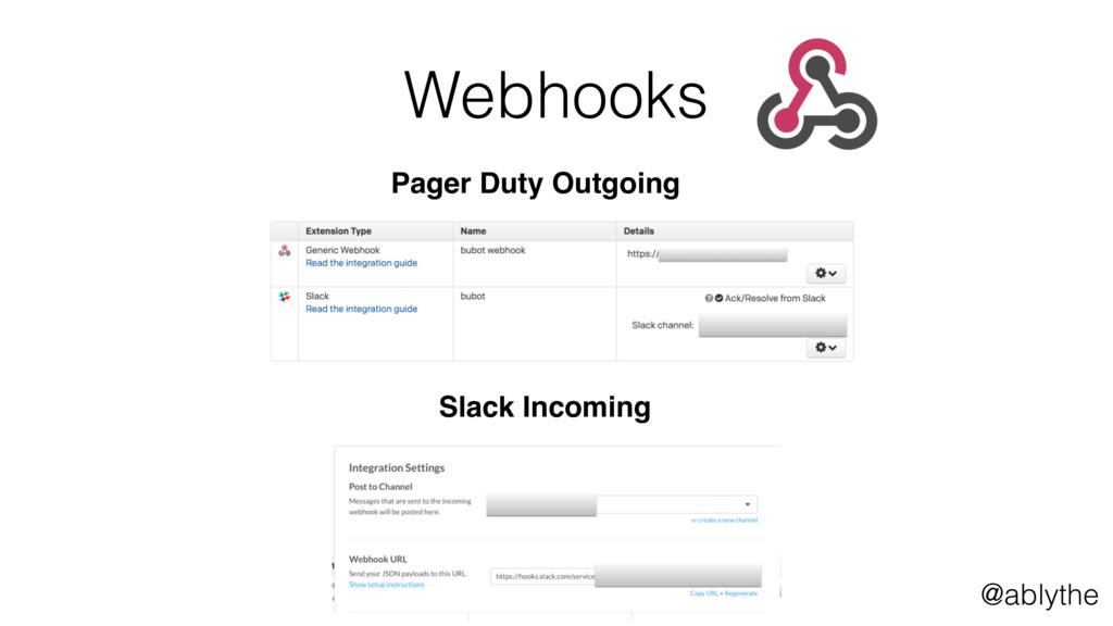 @ablythe Webhooks 26 Pager Duty Outgoing Slack ...