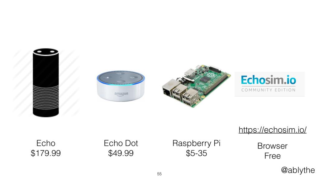 @ablythe 55 Echo $179.99 Raspberry Pi $5-35 Bro...