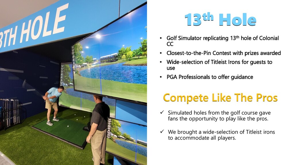 Compete Like The Pros 13th Hole  Simulated hol...