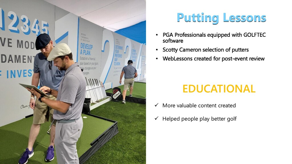 EDUCATIONAL Putting Lessons  More valuable con...