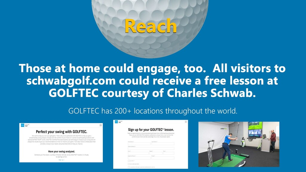 GOLFTEC has 200+ locations throughout the world...