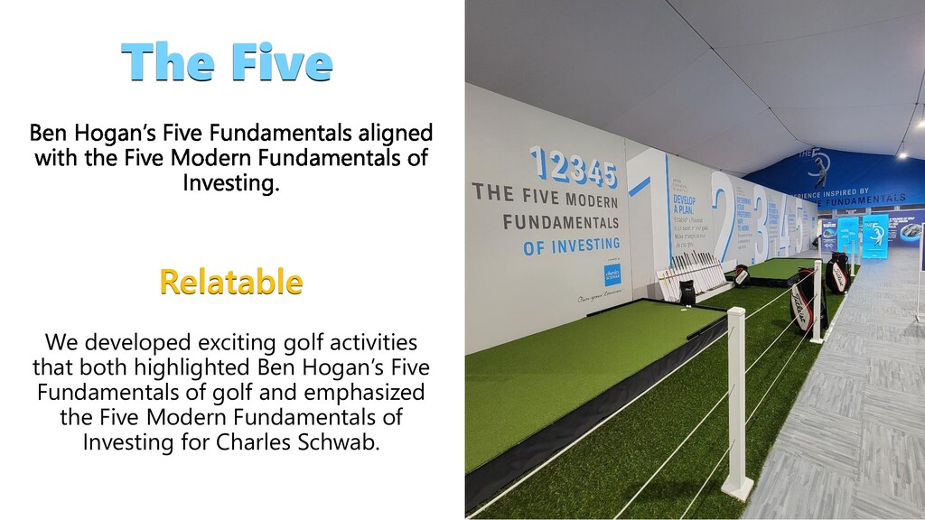 4 The Five Relatable We developed exciting golf...