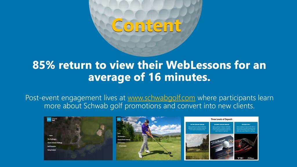 Post-event engagement lives at www.schwabgolf.c...