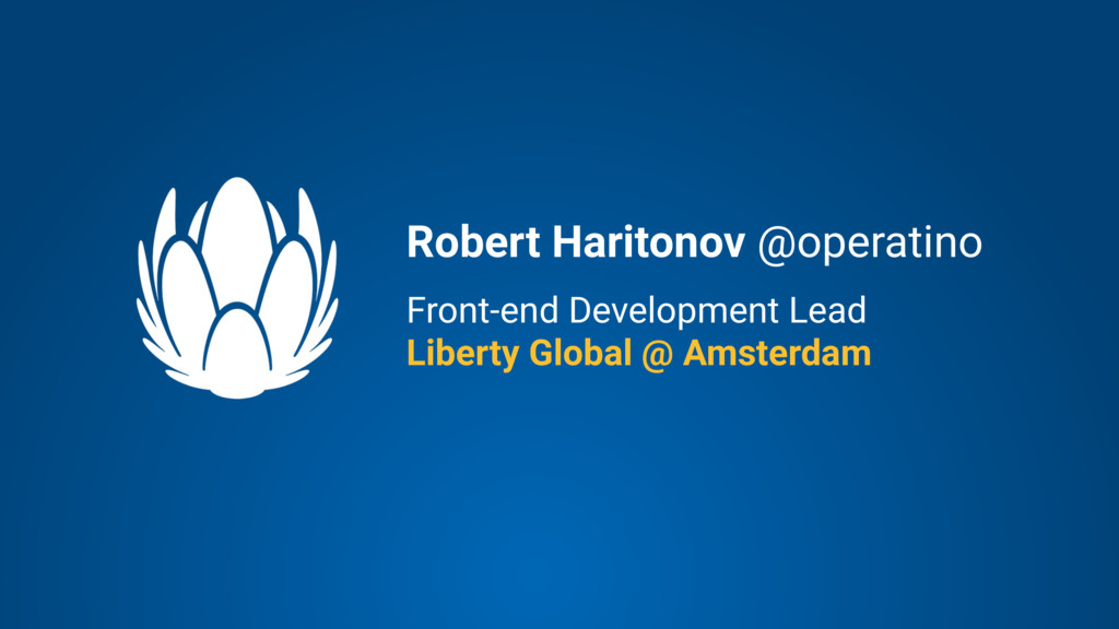 Front-end Development Lead Liberty Global @ Ams...