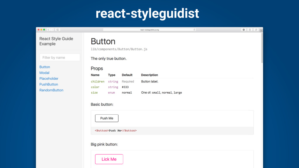 react-styleguidist