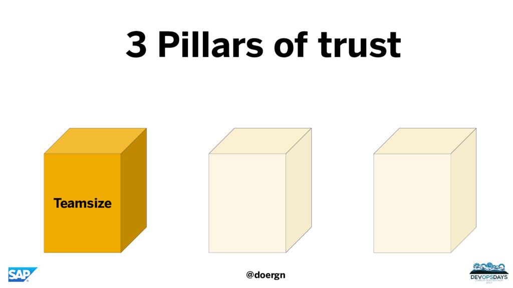 Teamsize 3 Pillars of trust @doergn
