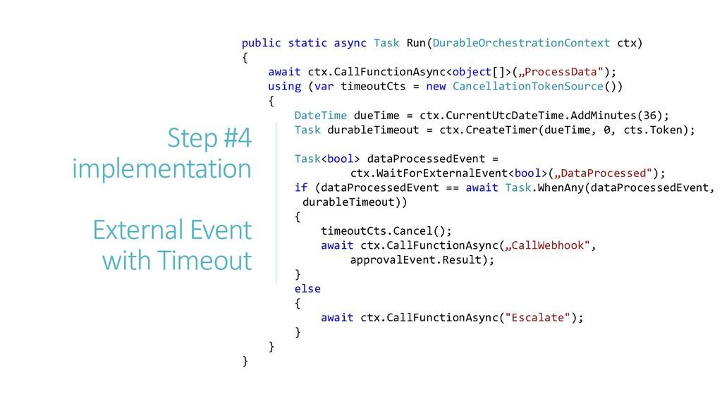 public static async Task Run(DurableOrchestrati...