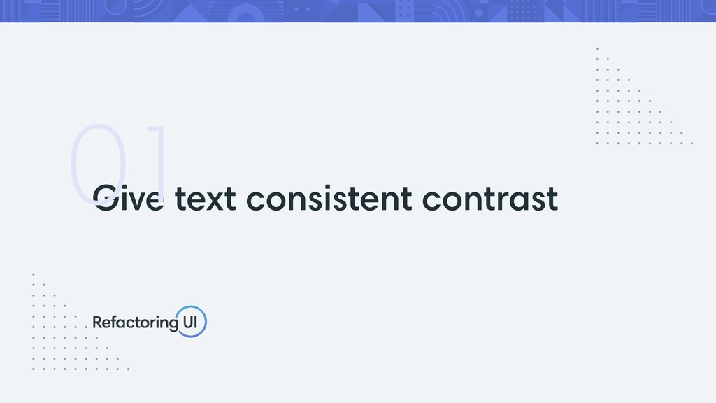 Give text consistent contrast 01