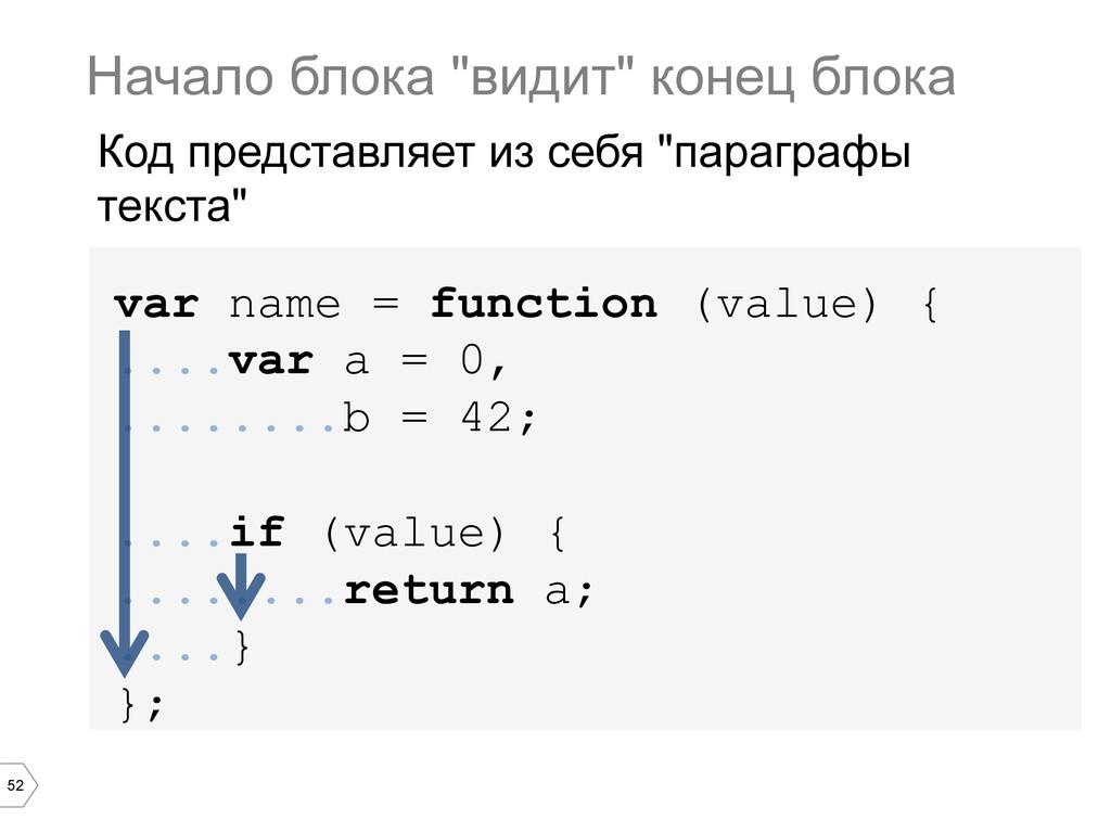 52 var name = function (value) { ....var a = 0,...