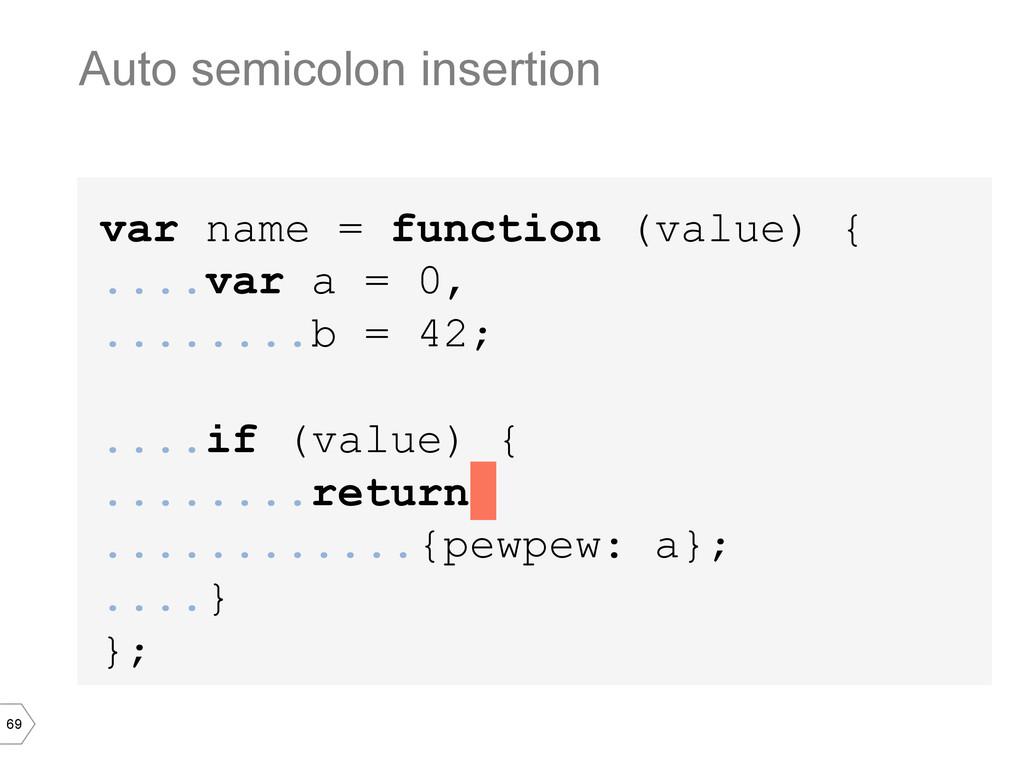 69 var name = function (value) { ....var a = 0,...