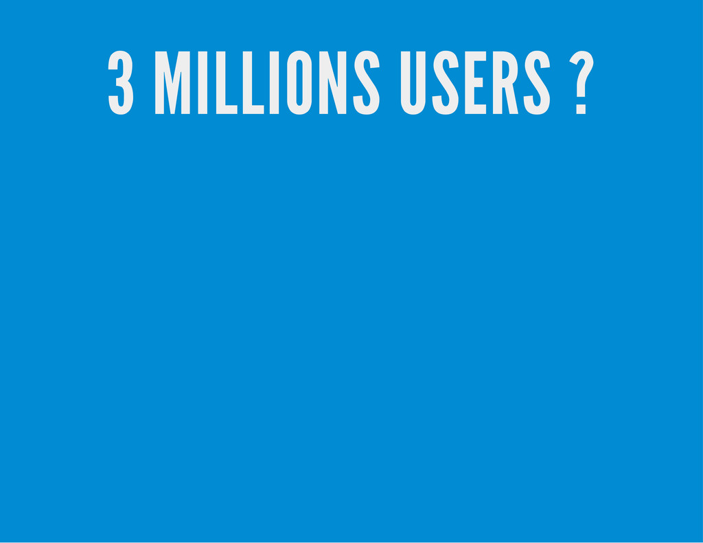 3 MILLIONS USERS ?