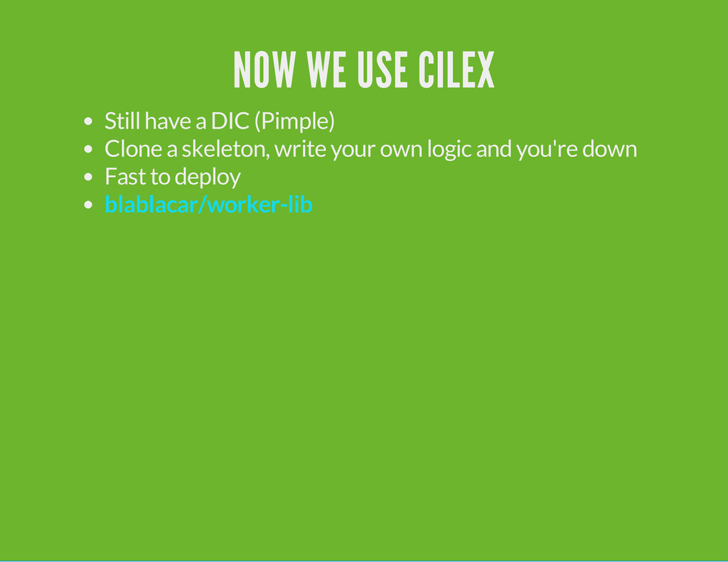 NOW WE USE CILEX Still have a DIC (Pimple) Clon...