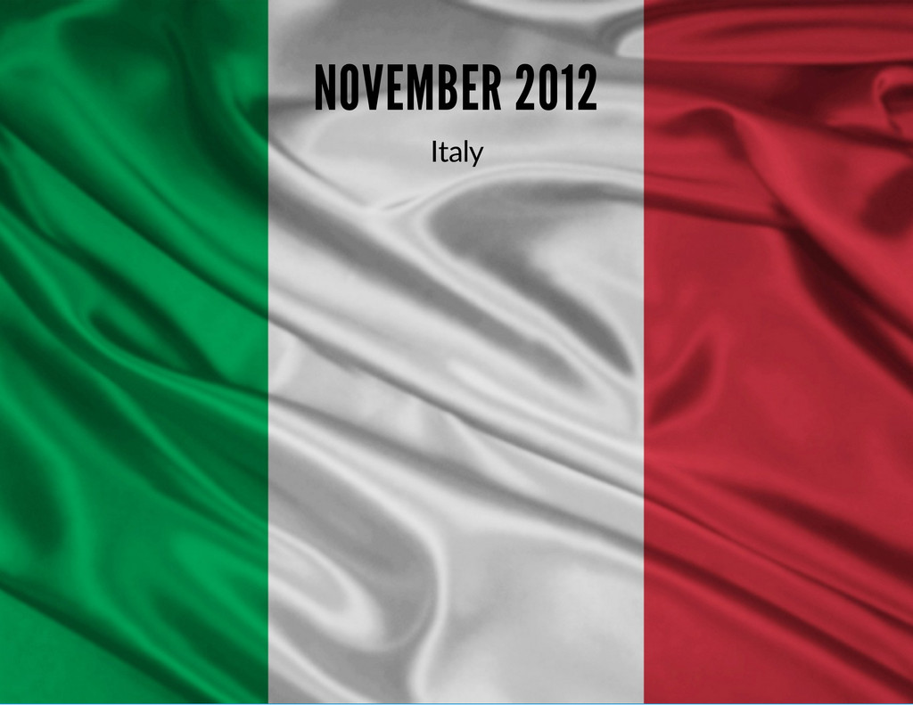 NOVEMBER 2012 Italy