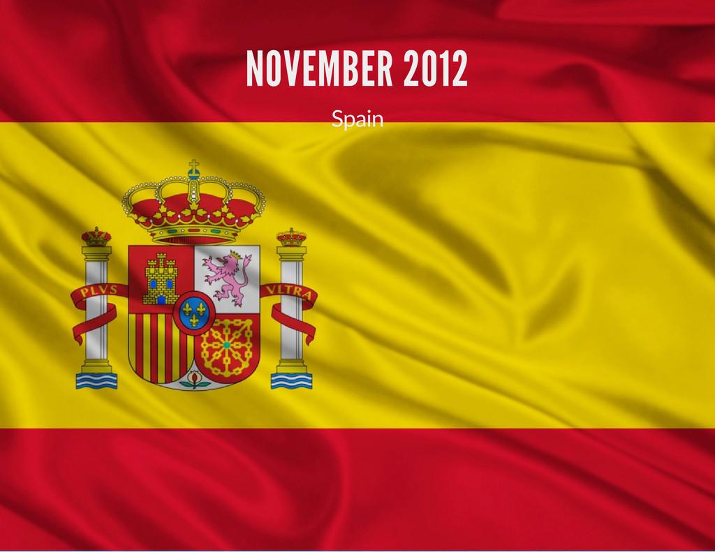 NOVEMBER 2012 Spain