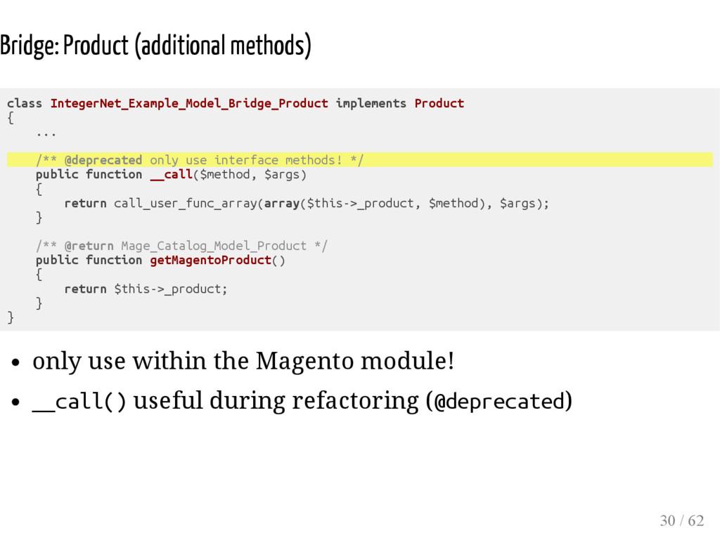 Bridge: Product (additional methods) class Inte...