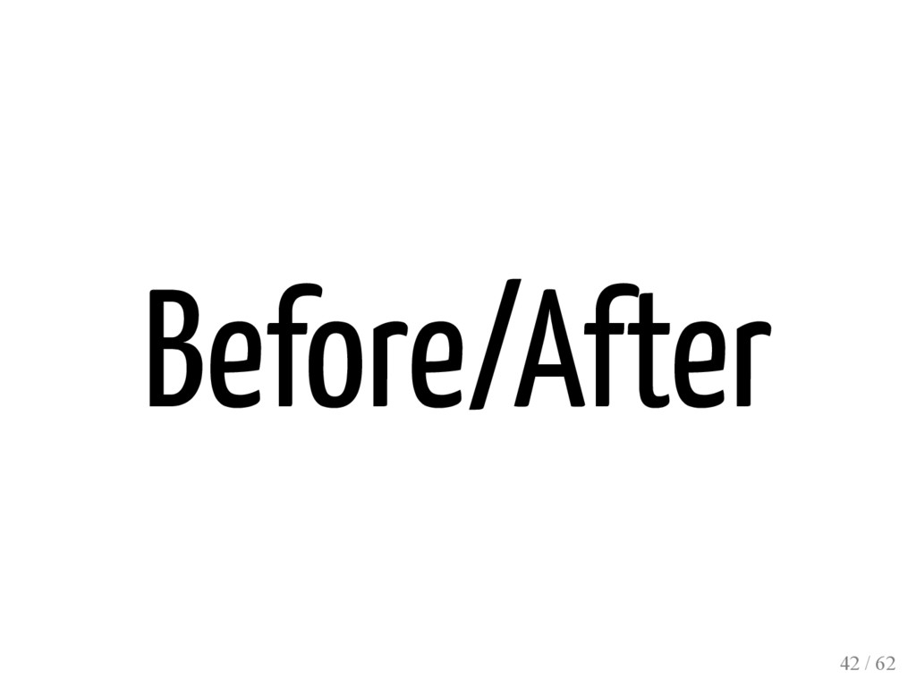Before/After 42 / 62