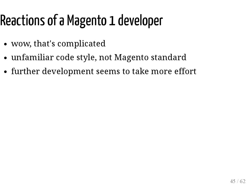 Reactions of a Magento 1 developer wow, that's ...