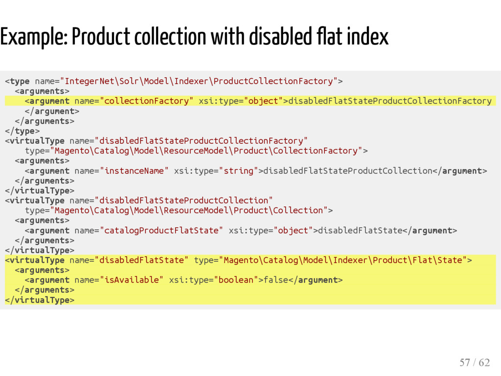 Example: Product collection with disabled flat ...