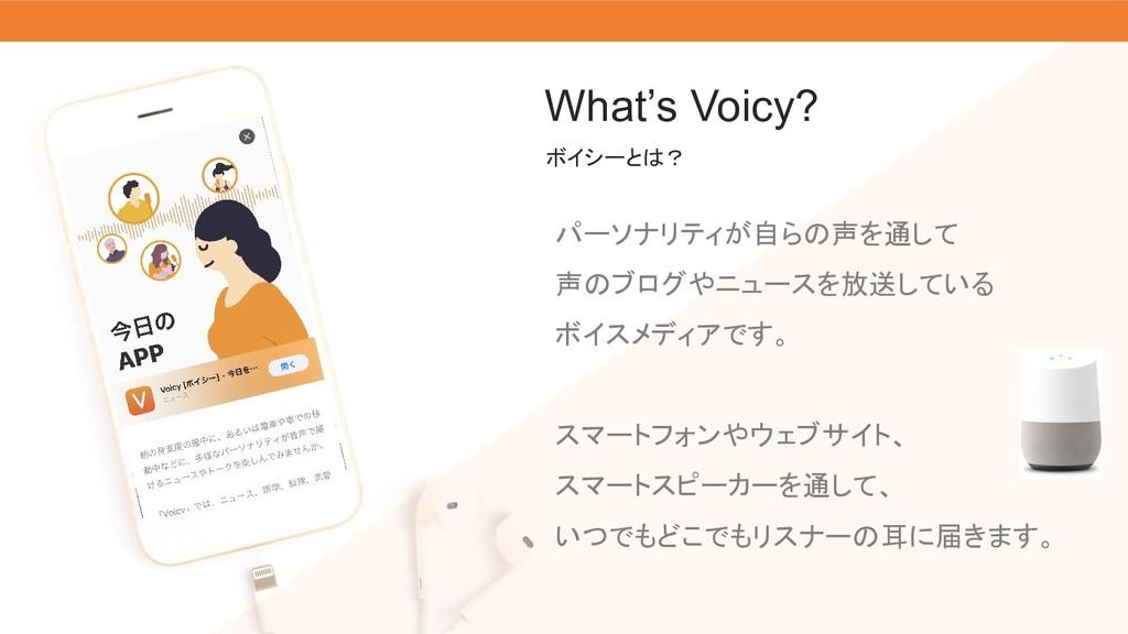 What's Voicy? パーソナリティが自らの声を通して 声のブログやニュースを放送してい...