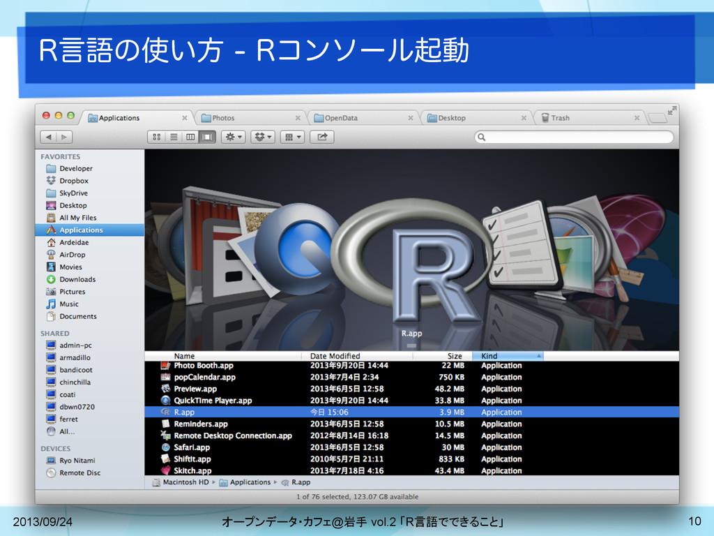 3ݴޠͷ͍ํ3ίϯιʔϧىಈ 2013/09/24 オープンデータ・カフェ@岩手 v...