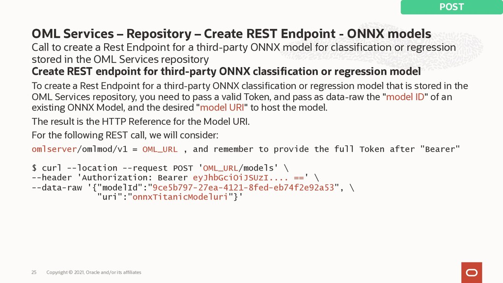 Call to create a Rest Endpoint for a third-part...