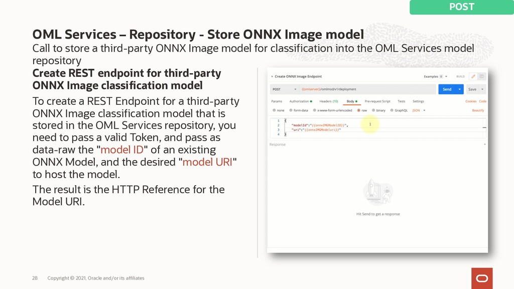 Call to store a third-party ONNX Image model fo...