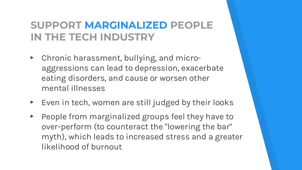 SUPPORT MARGINALIZED PEOPLE IN THE TECH INDUSTR...