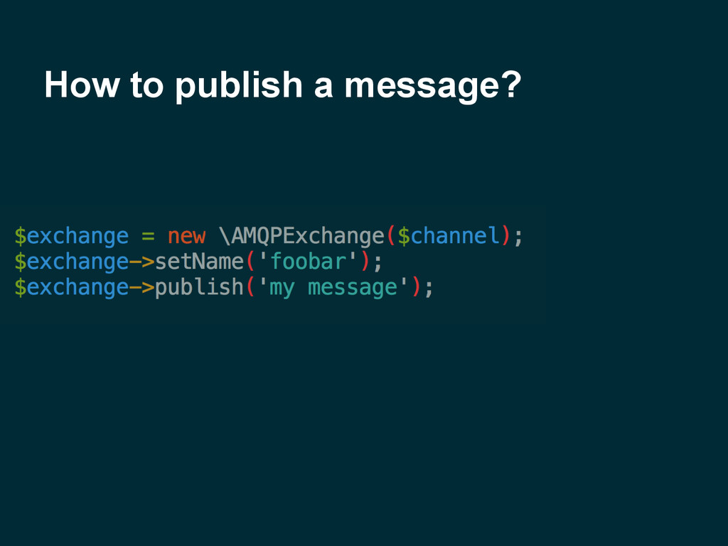 How to publish a message?