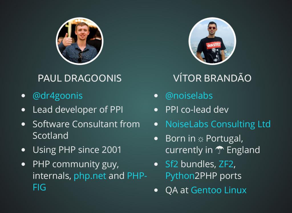 PAUL DRAGOONIS PAUL DRAGOONIS Lead developer of...