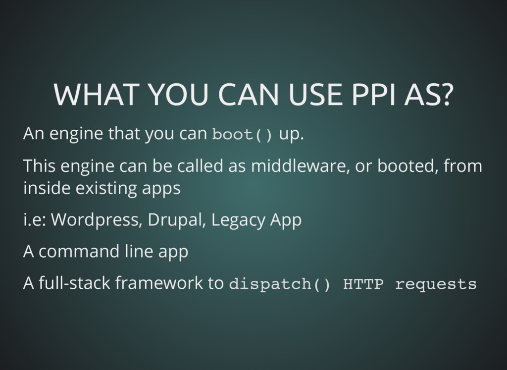 WHAT YOU CAN USE PPI AS? WHAT YOU CAN USE PPI A...