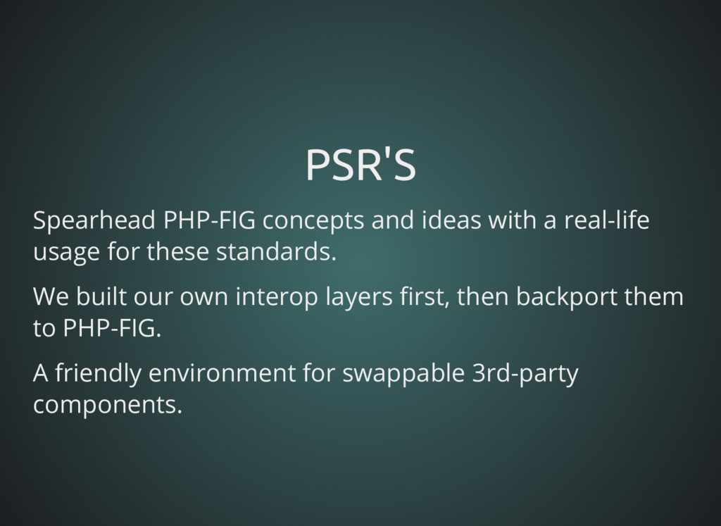 PSR'S PSR'S Spearhead PHP-FIG concepts and idea...