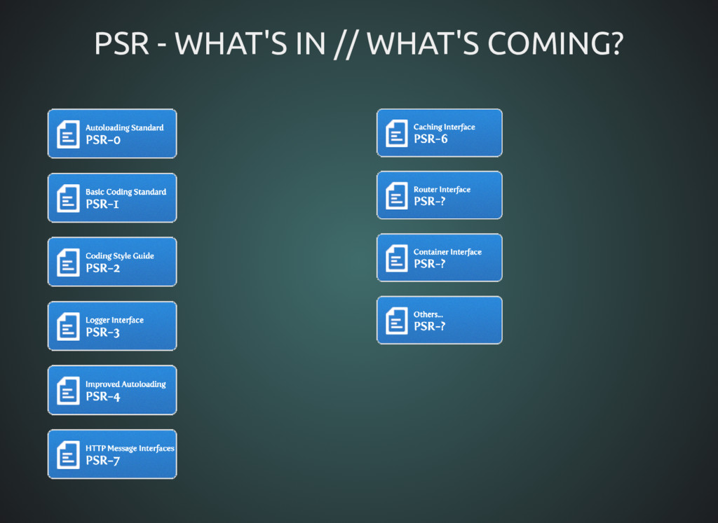 PSR - WHAT'S IN // WHAT'S COMING? PSR - WHAT'S ...