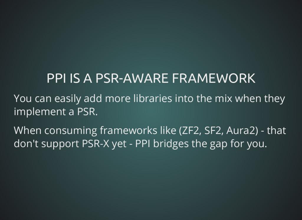 PPI IS A PSR-AWARE FRAMEWORK PPI IS A PSR-AWARE...