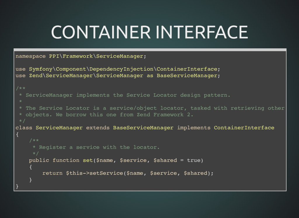 CONTAINER INTERFACE CONTAINER INTERFACE namespa...