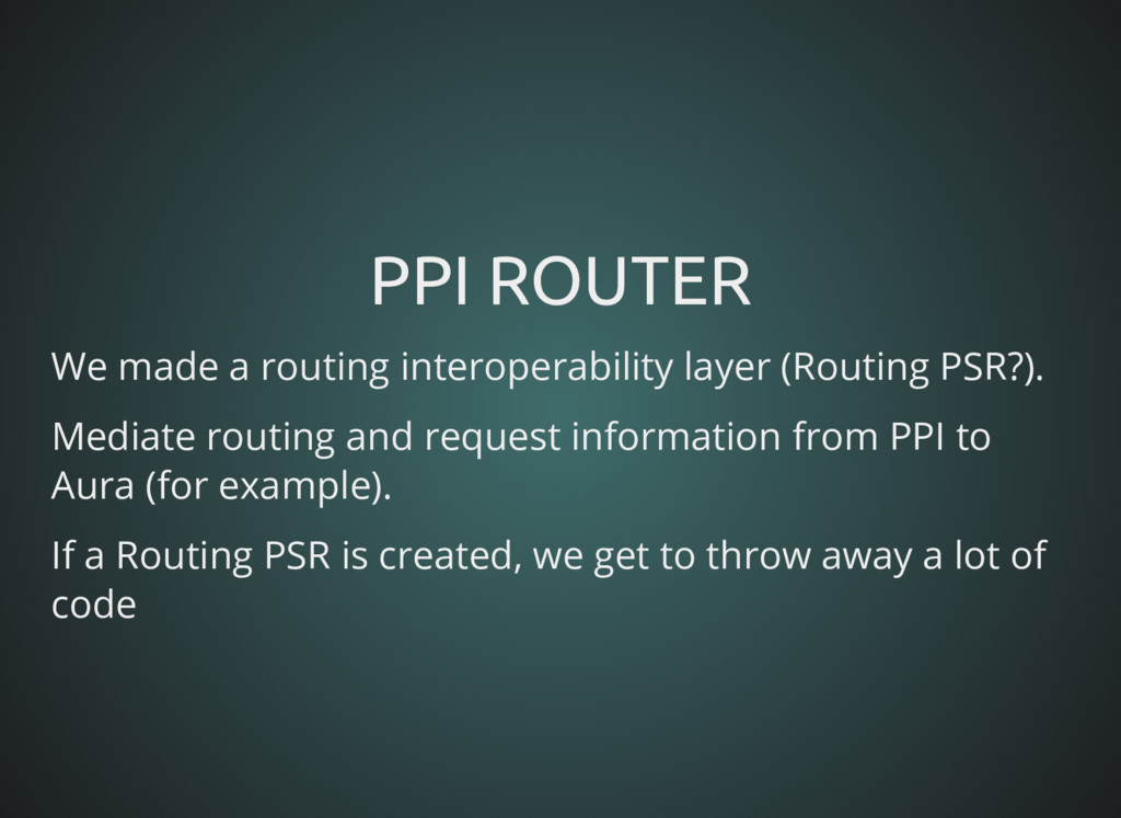 PPI ROUTER PPI ROUTER We made a routing interop...