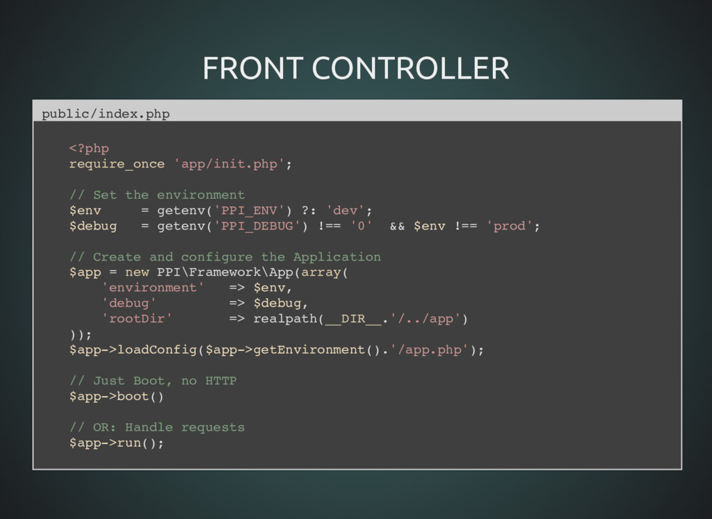 FRONT CONTROLLER FRONT CONTROLLER public/index....