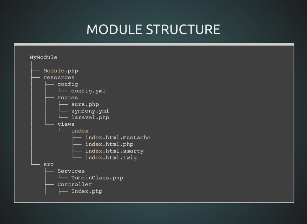 MODULE STRUCTURE MODULE STRUCTURE MyModule   ├─...