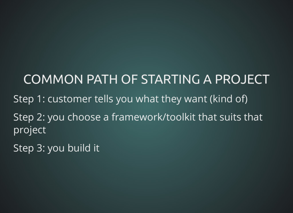 COMMON PATH OF STARTING A PROJECT COMMON PATH O...
