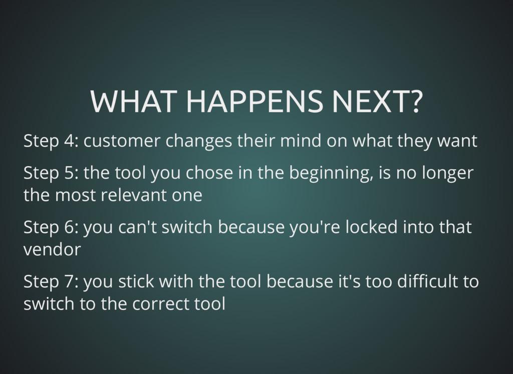 WHAT HAPPENS NEXT? WHAT HAPPENS NEXT? Step 4: c...