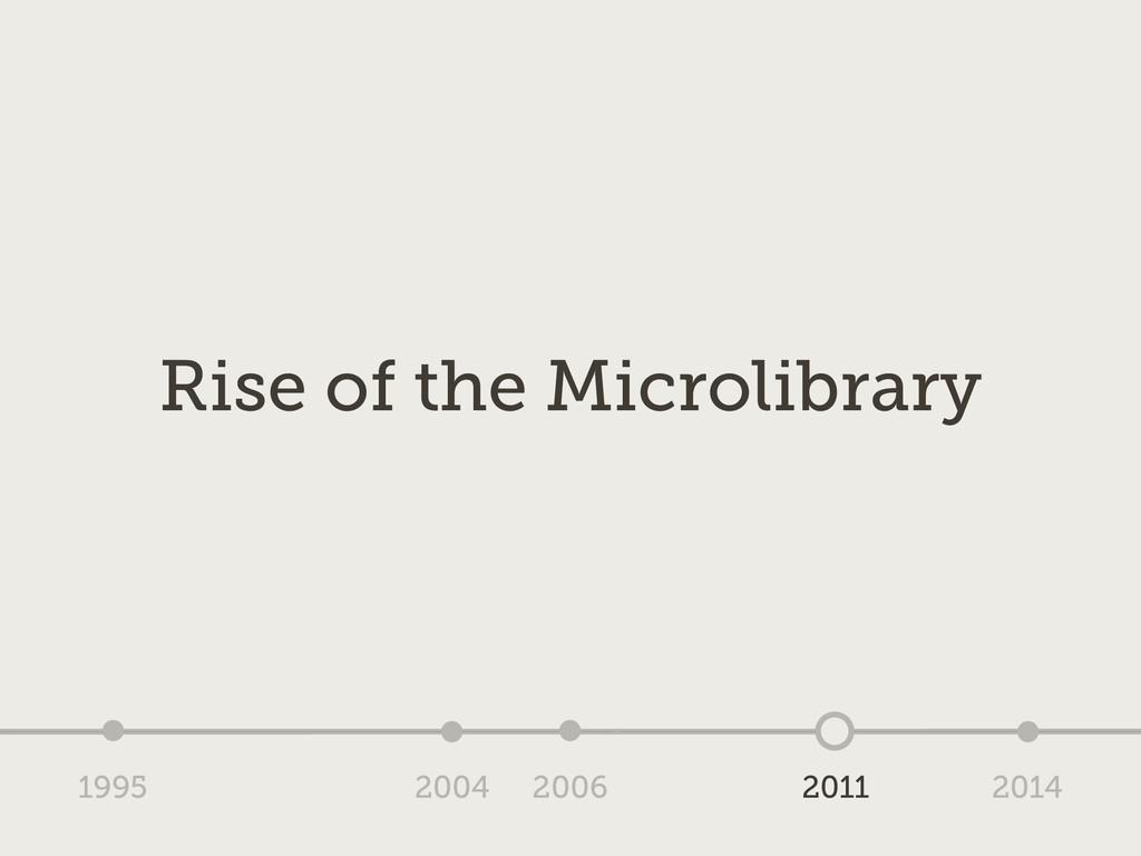 1995 2004 2006 2011 2014 Rise of the Microlibra...