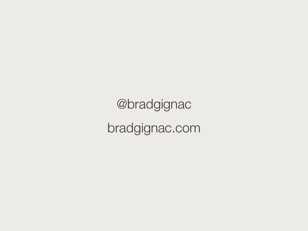 @bradgignac bradgignac.com