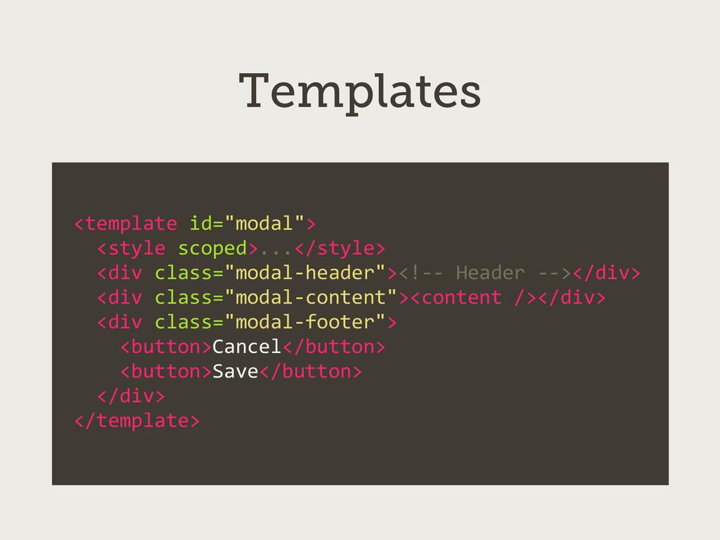 "<template id=""modal"">   <style scop..."