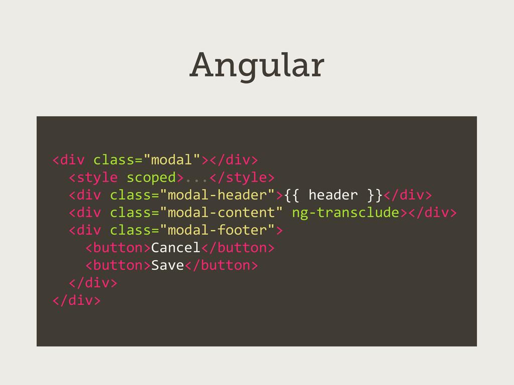 """Angular <div class=""""modal""""></div>   <s..."""