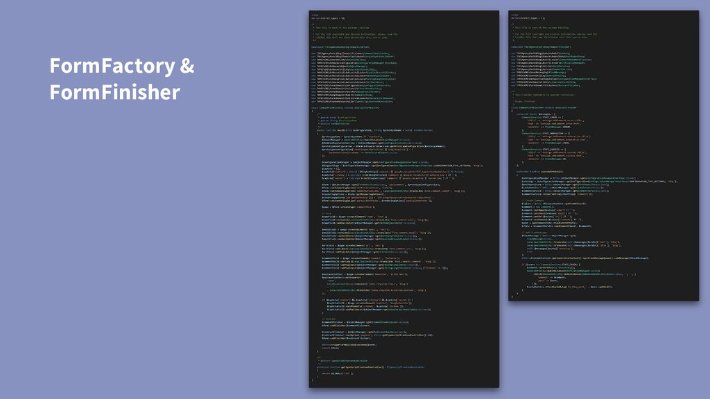 FormFactory & FormFinisher