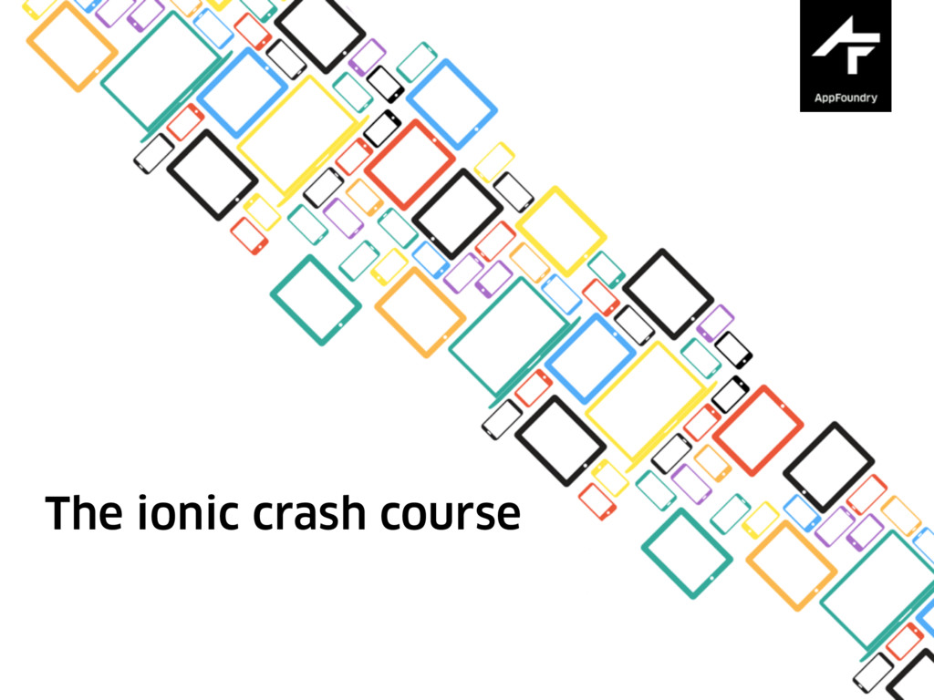 The ionic crash course