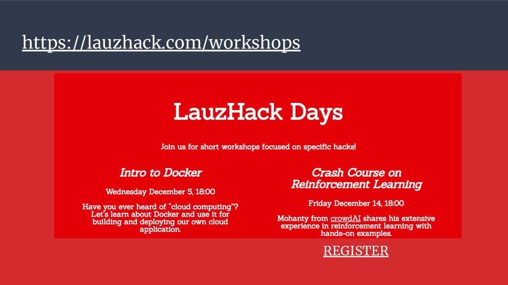 https://lauzhack.com/workshops REGISTER