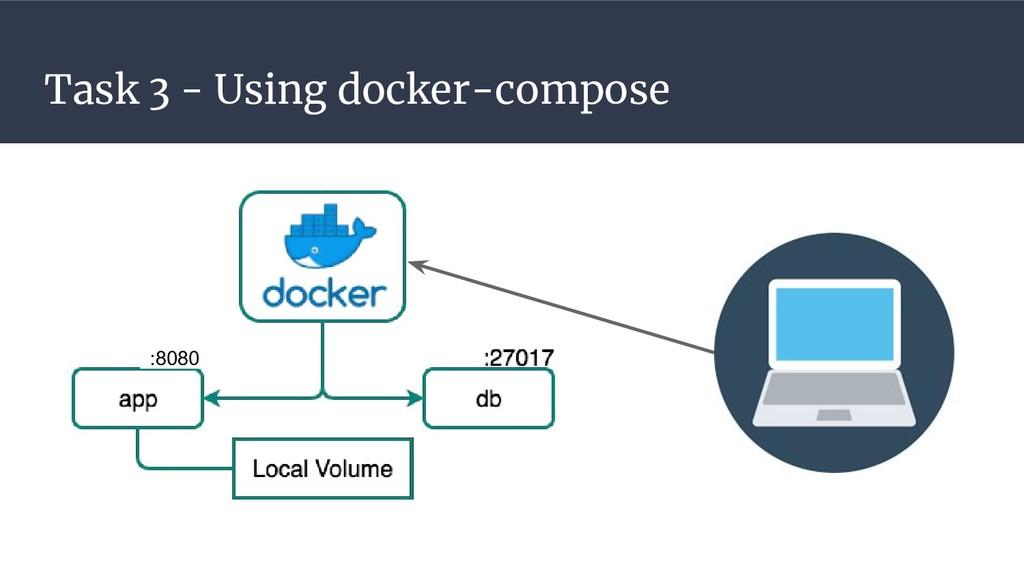 Task 3 - Using docker-compose :8080