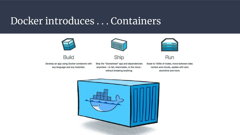 Docker introduces . . . Containers