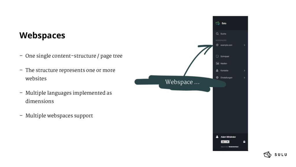 Webspaces – One single content-structure / page...