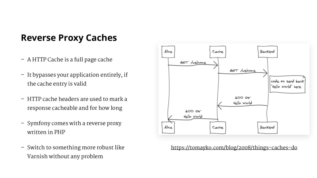 Reverse Proxy Caches – A HTTP Cache is a full p...